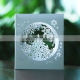 Just Arrival Unique Winter Theme 3D Snowflake Birthday Christmas Cards
