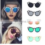 Royal Girl Women Sunglasses Vintage Cat Eye Sun Glasses Metal Eyeglasse Luxury