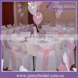 SH057C wholesale fancy blush organza cheap chair covers chair sashes