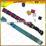 security disposable woven fabric fair wristband