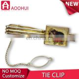 Hot sell die casting souvenir tie clips tie pin