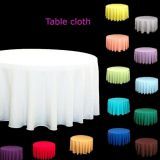 120 inch round polyester tablecloth white weddings suppilers decoration