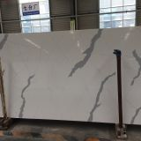 Artificial calacatta white quartz stone slab