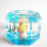Plastice Water Globe Insert Resin Bear Figurine