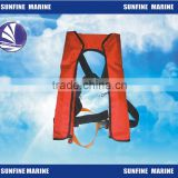 150N Inflatable lifevest/ CE Auto/Manual Inlfatable lijacket 420D Oxford Fabric lifejacket for marine/boat