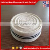 China braided bicolor black and white cheap cotton webbing