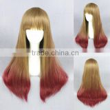 wholesale high quality 60CM medium blonde red mixed Lolita women synthetic wig