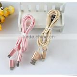 Used mobile phones braided ethernet mini usb cable 2in 1 Macarons color cables cables                                                                                                         Supplier's Choice