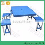 FOLDING CAMPING TABLE FOLDAWAY PICNIC PORTABLE BENCH SET4 PERSONS PLASTIC SEAT