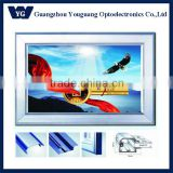 Hotsale: High quality of Large Size advertising Aluminium Frame backlit led light box,YGQ60/90/120