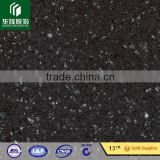 Black with blue and white shinning Artificial stone black shiny artificial quartz stone slab