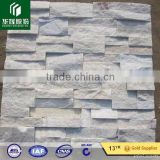 Club floor and wall design natural stacked anti-static pure white quartz wall decoration stones