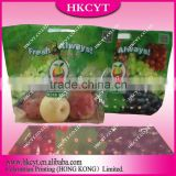 Fresh Grape Stand Up Zipper Bag Pouch With Hole / Fresh Fruits Packaging Bags In Free Shaped / Customized Shaped Bag