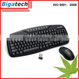 Latest 2.4G Wireless Gaming computer keyboard and mouse combo Factory