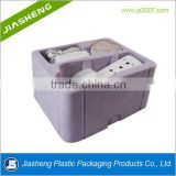 China supply PS flocking plastic blister inner cosmetic tray for beauty apparatus