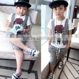 wholesale fashion summer hot sale new european boys polo T-shirt+jeans pants children clothes sets 2pcs