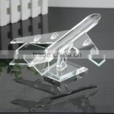 arrival crystal propeller-driven aircraft/airline/Boeing aeroplane for crystal transport models with engraved (R-1049