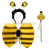 Hot sale halloween carnival christmas party fly wings fancy dress bee butterfly costume WG4018