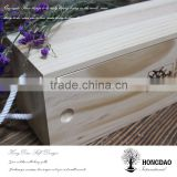 HONGDAO eco-friendly unfinished wooden box with hot printed logo and sliding lid with low price