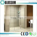 Frameless Pivot Hinged Shower screen with 10mm Toughed Glass