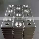 Permanent strong LED block magnets with countersunk hole used for LED flashlight