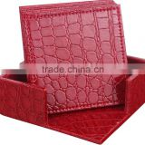 Factory Price Top Brand Leather Coaster Set