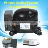 Hot selling Portable cooling systems of 12/24Volt Compressor for air conditioner water pump