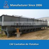 SS removal cavitation air flotation system for car wash water treatment