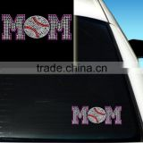 Bling Baseball Mom Personalized Car Window Stickers