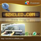 XuanCai simplify programmable Bluetooth App software favorable color Yellow brightness adjustable LED car sign