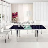 2013 Latest Modern Folding Rectangular Glass Dining Table,Glass Mirrored Dining Room Table L806B