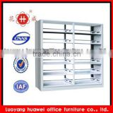 Popular 6 Layers School Library furniture Steel Book Store Shelves/Double Side Bookshelf
