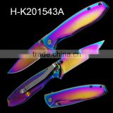 Titanium coated blade outdoor foldable camping knife                                                                                                         Supplier's Choice
