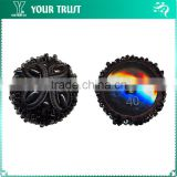 Black Chinese Knot Bugle Bead Shank Cover Chinese Frog Button