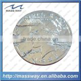 promotion die casting zinc alloy demage engraved silver coin