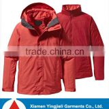 Ladies brand 3 in 1 extreme waterproof outdoor jacket warm keeper insulated woman jacket