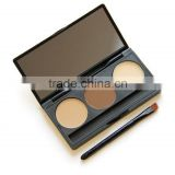 Eyebrow powder,eyebrow kit,private label eyebrow pencils,3 lolor eyebrow conceal palette