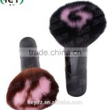 Hot Sale Aluminium Handle Synthetic Hair Color Circle Tip Vegan Powder Large Kabuki Brush