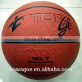 Rubber Ball Material and Ball Type Custom outdoor rubber basketball for promotion
