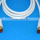 Hot Sell TV Satellite Antenna Cable Quick F male to male Moulded type for RF TV connection