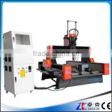 China Heavy Duty 4 Axis CNC Router For Marble Grantie Blue Stone Tombstone With PCI NcStudio Control System 900*1500MM