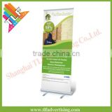 Retractable aluminium economical acrylic display stand , Roll up banners