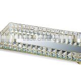 Fashion decorative crystal mirror tray