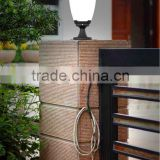 Integrated Garden Light Outdoor Plastic Pillar Light For Gate Decoration