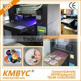 2014 new tech and researdch digital uv printer printing on cd dvd plastic sleeve