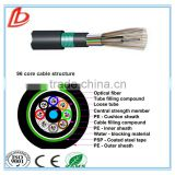 96 core GYTY53 Loose tube stranding Direct-burial cable, 96 core GYTY53 fiber optic cable