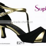 Suphini Gold Latin Dance Shoes for Ladies