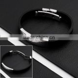 Fashion Stainless Steel Cross Leather Bracelets Jewelry(AB10036)