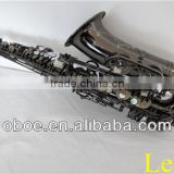 Woodwind musical instrument black nickel plated brass Eb alto saxophone--331N