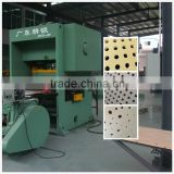 Perforated gypsum plaster board manufacturing machine